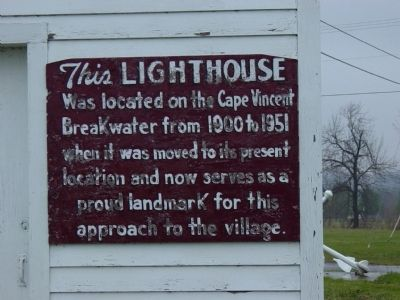 Cape Vincent Lighthouse Marker image. Click for full size.