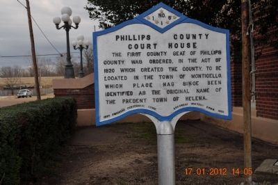 Phillips County Court House Marker image. Click for full size.