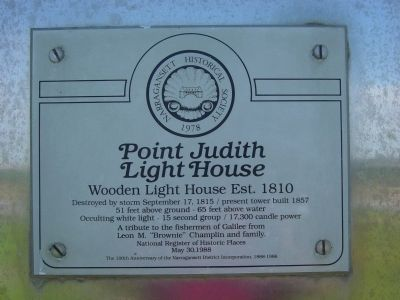 Point Judith Light House Marker image. Click for full size.