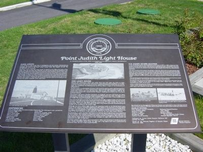 Point Judith Light House Interpretive Sign image. Click for full size.