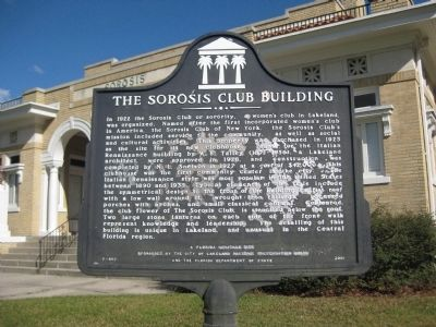 The Sorosis Club Building Marker image. Click for full size.
