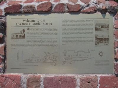 Welcome to the Los Rios Historic District Marker image. Click for full size.