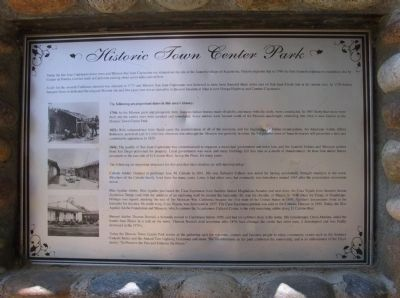 Historic Town Center Park Marker image. Click for full size.