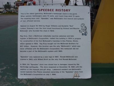 Speedee History image. Click for full size.