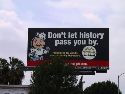 Don't let history pass you by image. Click for full size.