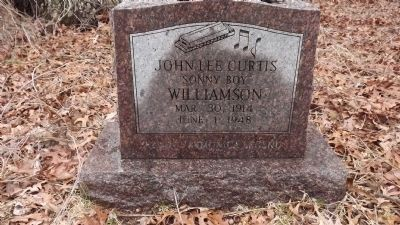 "John Lee ""Sonny Boy"" Williamson Grave Marker image. Click for full size."