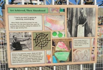 Watts Towers Marker Panel 7 image. Click for full size.