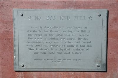 Red Hill Marker image. Click for full size.