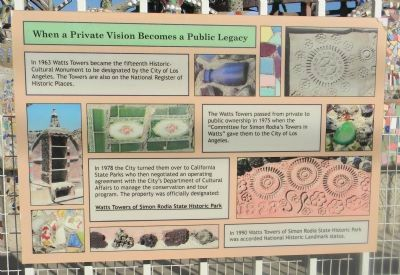 Watts Towers Marker Panel 9 image. Click for full size.