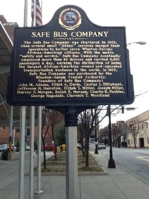 Safe Bus Company Marker image. Click for full size.