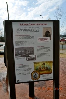 Civil War Comes to Arkansas Marker image. Click for full size.