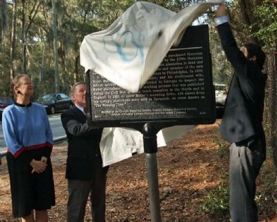 Hampton Plantation Marker Dedicated January 26, 2012 image. Click for full size.