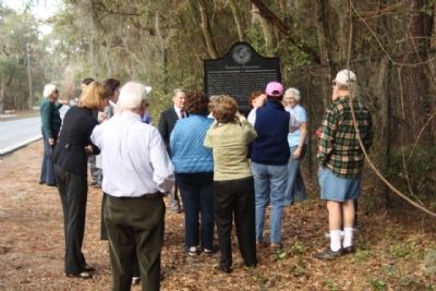 Hampton Plantation Marker and the dedication spectators image. Click for full size.