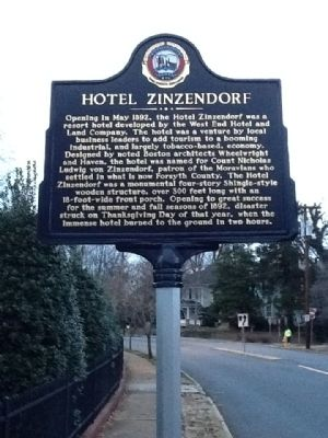 Hotel Zinzendorf Marker image. Click for full size.
