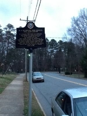 R. J. Reynolds High School and Auditorium Marker image. Click for full size.