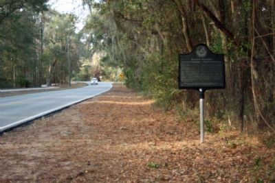 Hampton Plantation Marker, looking north along Lawrence Road image. Click for full size.