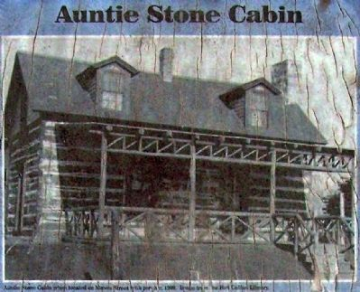 Auntie Stone Cabin, with porch image. Click for full size.