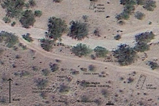 Satellite Photo of Massacre Site image. Click for full size.