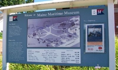 Maine Maritime Museum Sign image. Click for full size.