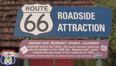 Bagdad Cafe Marker image. Click for full size.