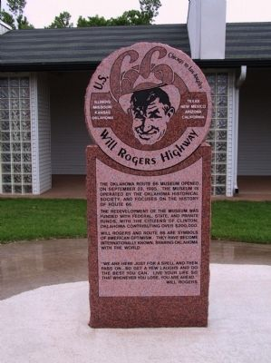 U.S. 66 - Willl Rogers Highway Marker image. Click for full size.