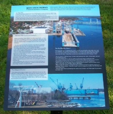 Bath Iron Works Marker image. Click for full size.