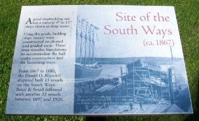 Site of the South Ways (ca. 1867) Marker image. Click for full size.