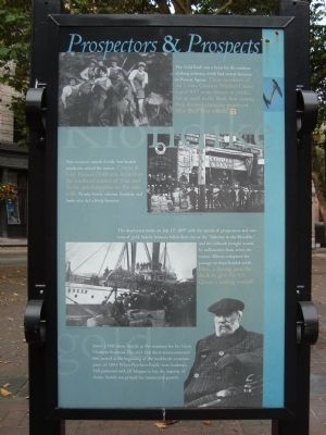Pioneer Square Historic District Marker - Prospectors & Prospects [Panel 4] image. Click for full size.