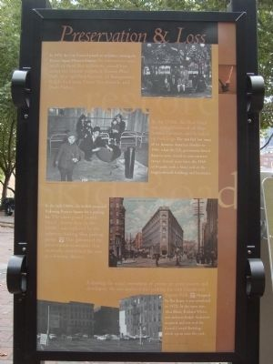 Pioneer Square Historic District Marker - Preservation & Loss [Panel 7] image. Click for full size.