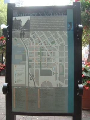 Pioneer Square Historic District Marker - Map image. Click for full size.