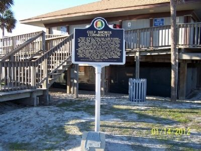 Gulf Shores Community Marker image. Click for full size.