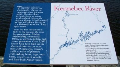 Kennebec River Marker image. Click for full size.