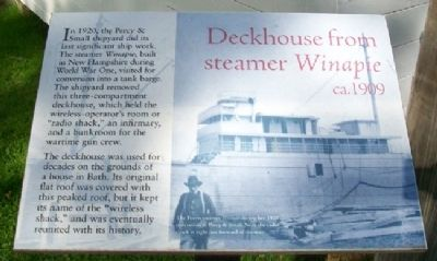 Deckhouse from steamer <i>Winapie</i> ca.1909 Marker image. Click for full size.
