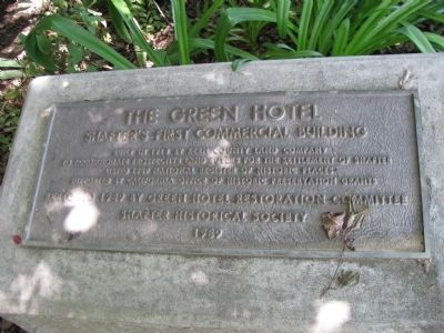The Green Hotel Marker image. Click for full size.