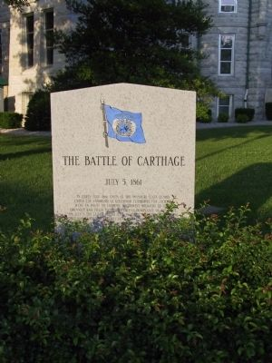 The Battle of Carthage Marker image. Click for full size.