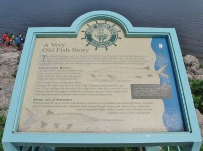 A Very Old Fish Story Marker image. Click for full size.