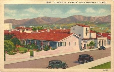 """El Paseo De La Guerra"", Santa Barbara, California image. Click for full size."