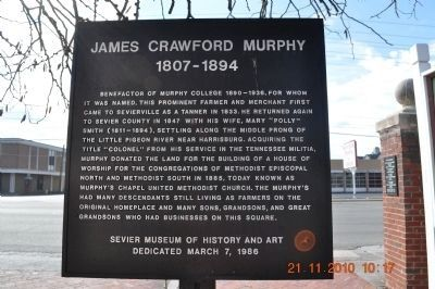 James Crawford Murphy Marker image. Click for full size.