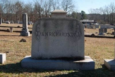 A.N. Richardson Tombstone<br>Front image. Click for full size.