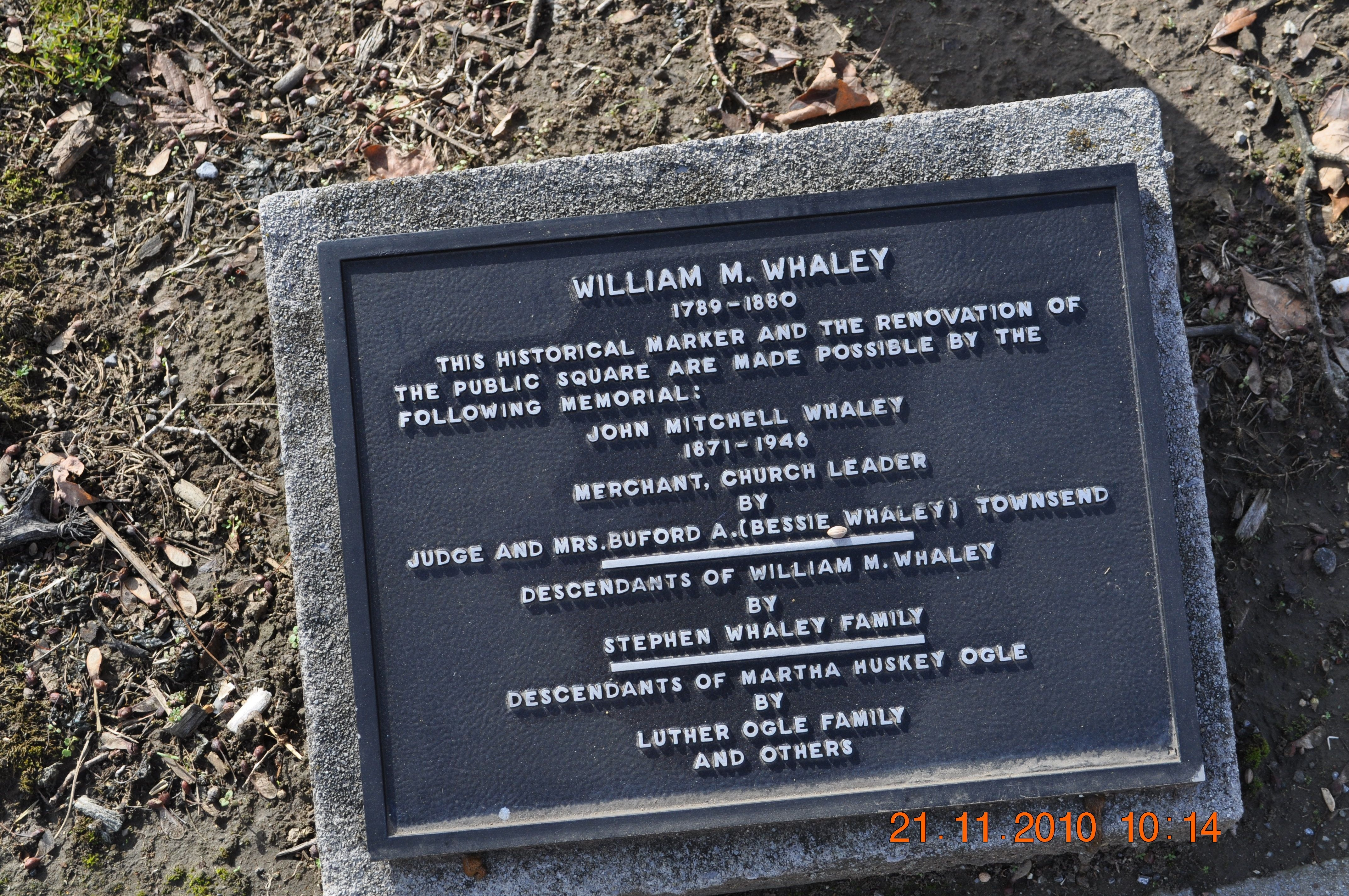 William M. Whaley Marker