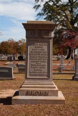 Brown Family Tombstone<br>Old Silverbrook Cemetery, Anderson, SC image. Click for full size.