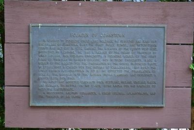 Founder of Johnstown Marker image. Click for full size.