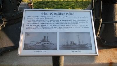"""4-in. 40 caliber rifles"" Marker image. Click for full size."