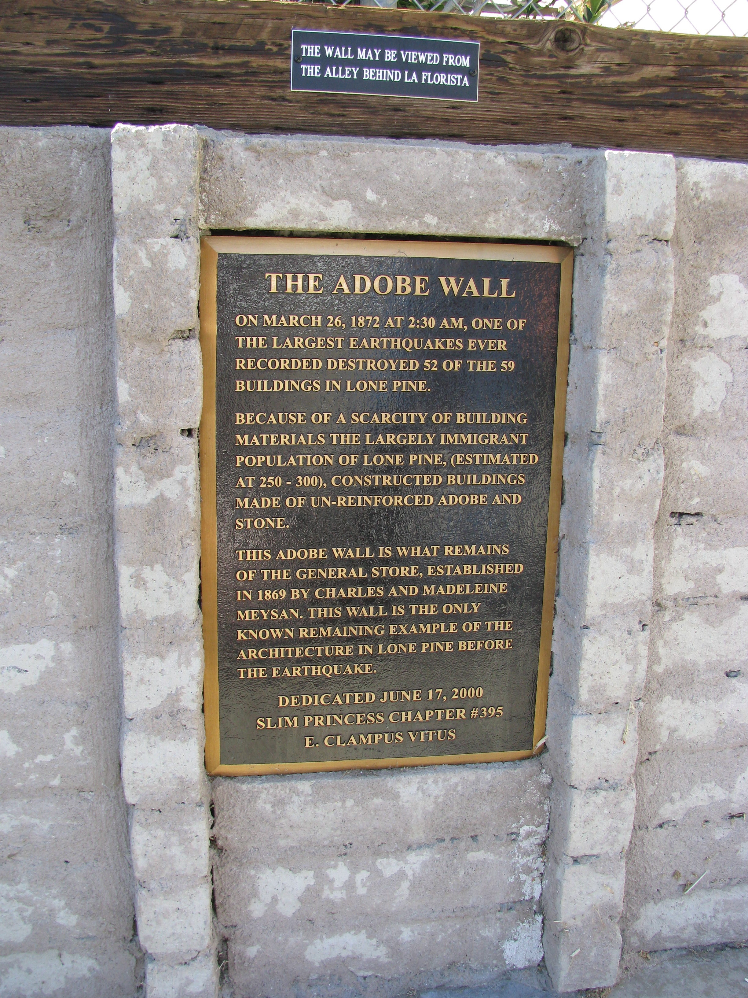 The Adobe Wall Marker