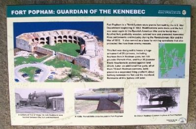 Fort Popham: Guardian of the Kennebec Marker image. Click for full size.
