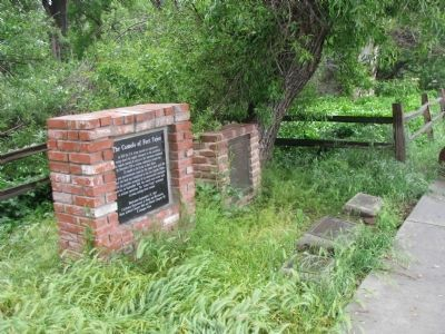 Peter Lebeck Marker among the other Fort Tejon Historical Markers image. Click for full size.