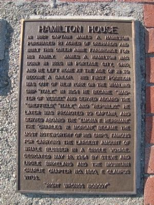 Hamilton House Marker image. Click for full size.