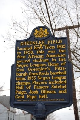 Greenlee Field Marker image. Click for full size.