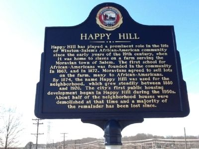 Happy Hill Marker image. Click for full size.