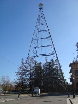 The San Jose Electric Tower replica image. Click for full size.
